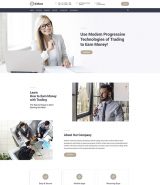 """Bitcoin and traiding"" WordPress theme"