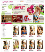 Lingerie Store web template