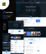 """Live Event"" conference and meetup Adobe Muse template"