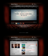 Movie Theatre web template