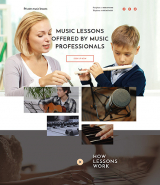 Music School Responsive Landing Page Template