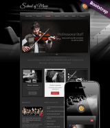 Music School web template