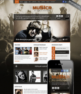 Music Theme web template