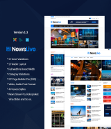 """Newslive"" News Magazine Joomla Template"