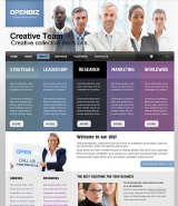Open Business web template