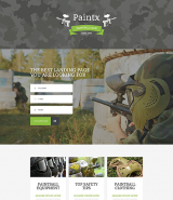 Paintball Responsive Landing Page Template