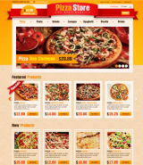 Pizza Store web template