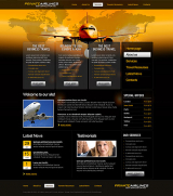 Private Airline web template