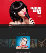 """RADIO FM"" web template for Wordpress"