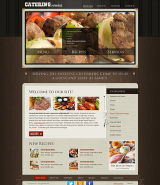 Recipes and catering web template