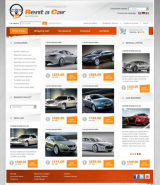 Rent a car web template