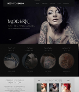 Responsive Tattoo Salon WordPress Theme