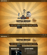 Retro Radio web template