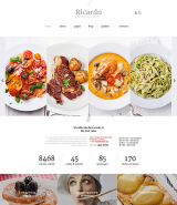 """Ricardo"" Joomla Template for Italian Cafe or Restaurant"