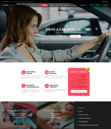 Safe Drive - Traffic School & Driving Lessons Website Template
