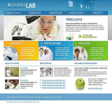 Science Lab web template