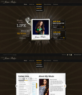 Singer Music web template