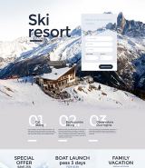 Skiing Responsive Landing Page Template