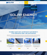 Solar energy web template
