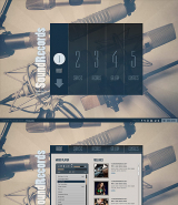 Sound Records web template