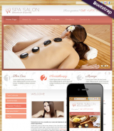 Spa Salon web template