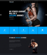 """Fitness club"" stylish HTML web template for GYM"