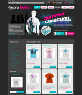 T-shirt web template