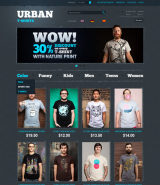 T-Shirts web template
