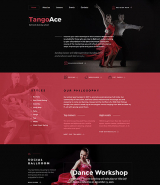 TangoAce - Dance Studio Website Template