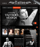 Tattoo design web template