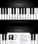 The Pianist web template