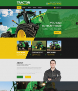 Tractor Maintenance Website Template