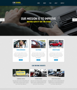 Traffic School Responsive Website Template