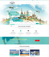 """Travel Agency"" Wordpress responsive theme"