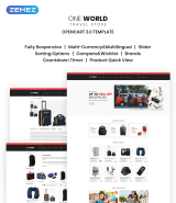 """Travel Bags and Suitcases"" Travel Store OpenCart Template"