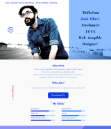 """UI/UX Designer and Freelancer"" One Page Muse Template"
