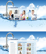 Water Filter web template