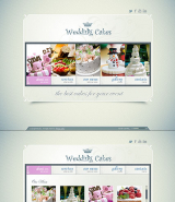 Wedding Cakes web template