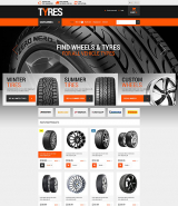Wheels and Tyres OpenCart Template