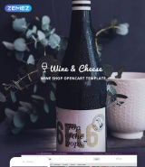 Wine & Cheese - Wine Shop OpenCart Template