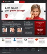 World Business web template