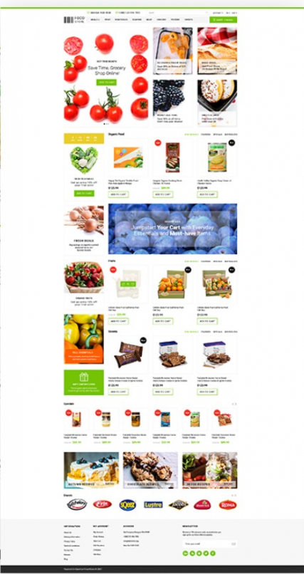 """Food Store"" responsive OpenCart theme for your site"