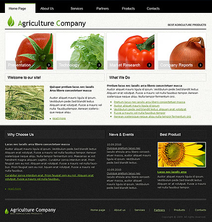 Agriculture web template
