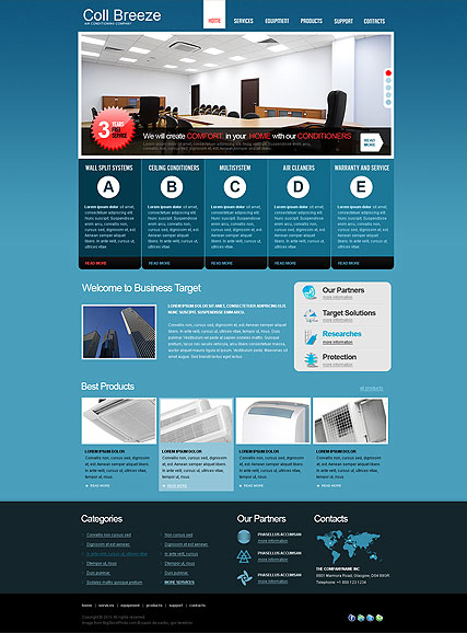 Air Conditioning web template