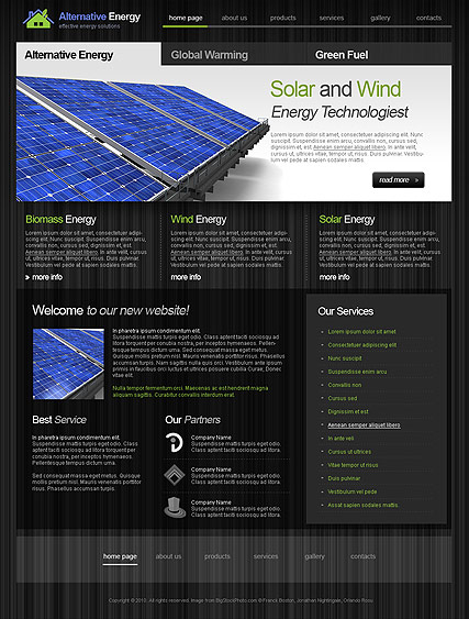 Alternative Energy web template