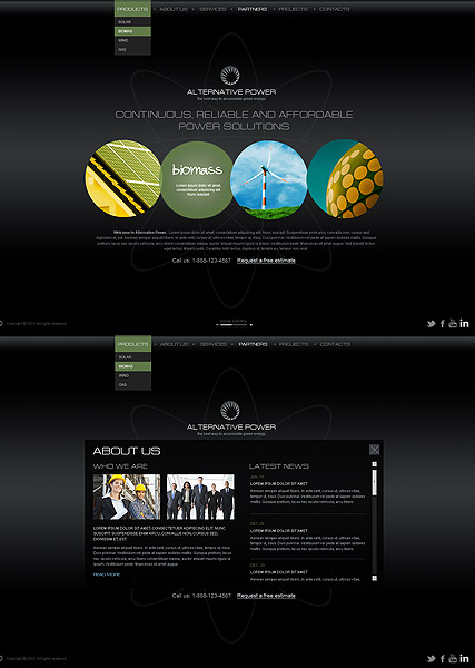 Alternative Power web template
