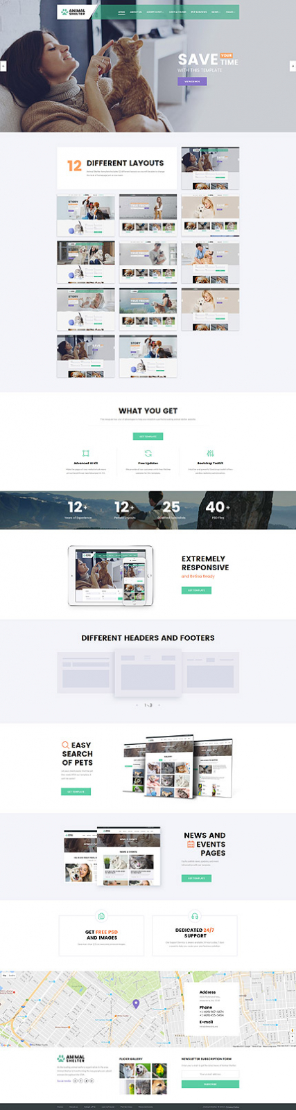 """Animal Care"" responsive Website Template"