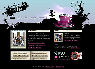 Art caffe web template