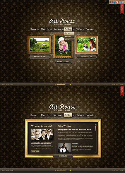 Art Gallery web template