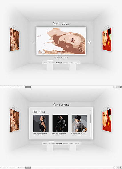 Artist Exhibition web template